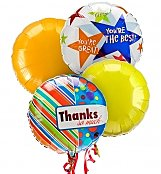 Balloons: Thank You Balloon Bouquet-4 Mylar