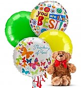 Balloons & Bear: Thinking of You Balloons & Bear-4 Mylar