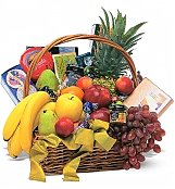 Fruit Gift Baskets: Classic Get Well Fruit and Gourmet Basket