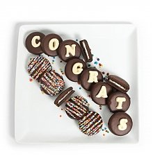 Desserts Confections Gifts: Chocolate Covered Congrats Oreo<sup>®</sup> Cookies
