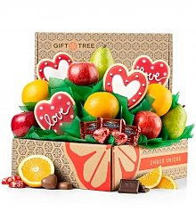 Fruit Baskets: Valentine's Day Fruit and Cookies Gift