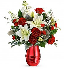 Flower Bouquets: Radiantly Rouge Bouquet