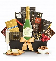 Champagne Baskets: 5th Avenue with Champagne