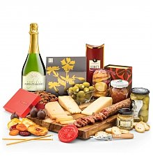 Cheese, Charcuterie Gifts: Artisan Cheese & Charcuterie Picnic Menu with Chateau Montmore Champagne
