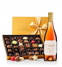Wine Baskets: Choice of Wine & Godiva® Chocolates