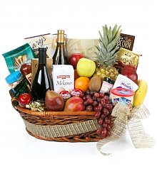 Wine & Fruit Baskets: Father's Day Gourmet Extravagance Basket
