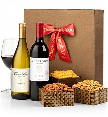 Wine Gift Crates: Many Thanks Wine Duet