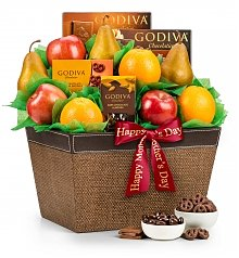 Fruit Baskets: Mother's Day Premium Grade Fruit and Godiva Chocolates