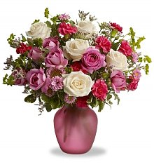 Flower Bouquets: Think Pink Rose Bouquet